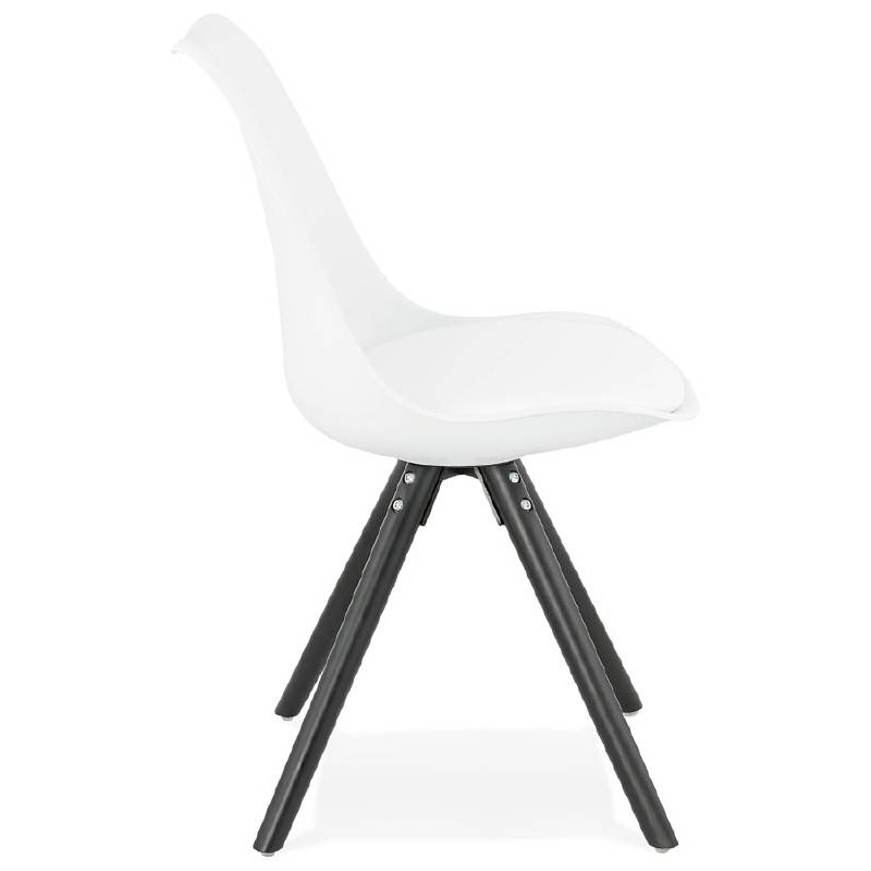 Chaise design ASHLEY pieds noirs (blanc) - image 39213