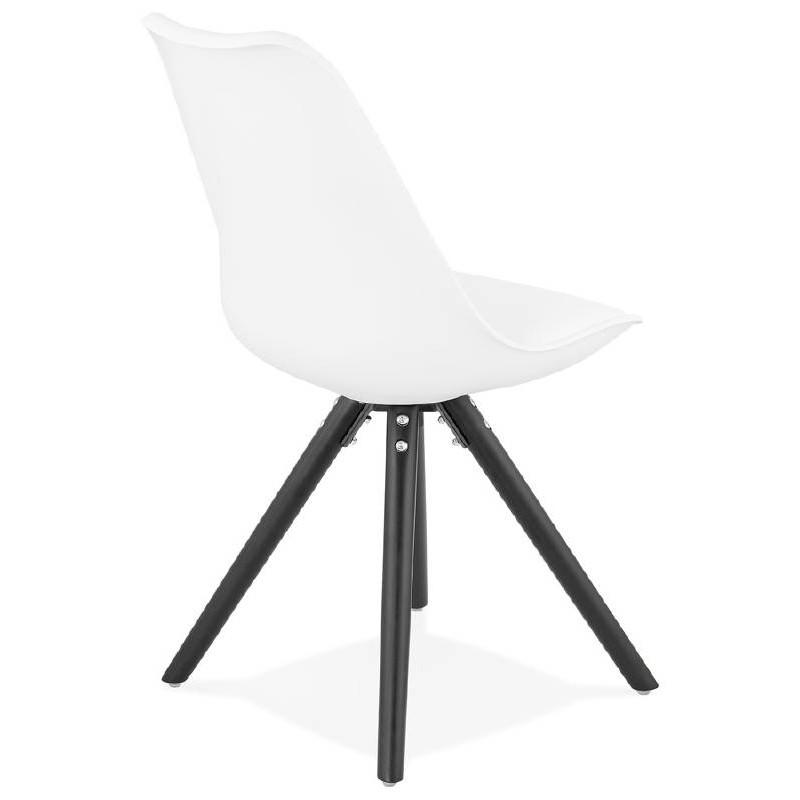 Chaise design ASHLEY pieds noirs (blanc) - image 39214