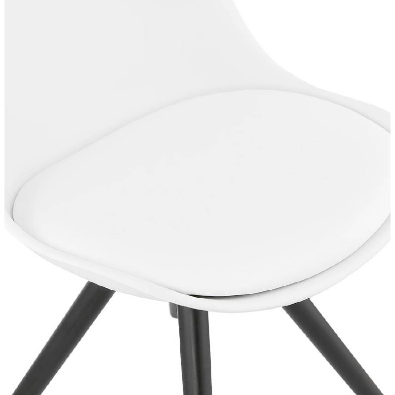 Chaise design ASHLEY pieds noirs (blanc) - image 39217