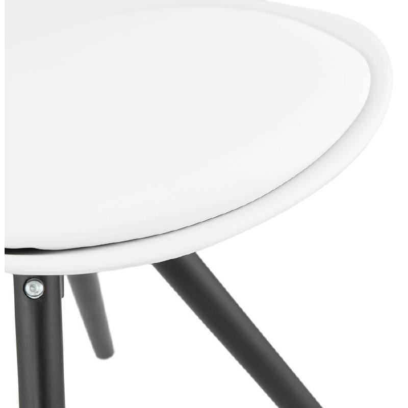 Chaise design ASHLEY pieds noirs (blanc) - image 39218