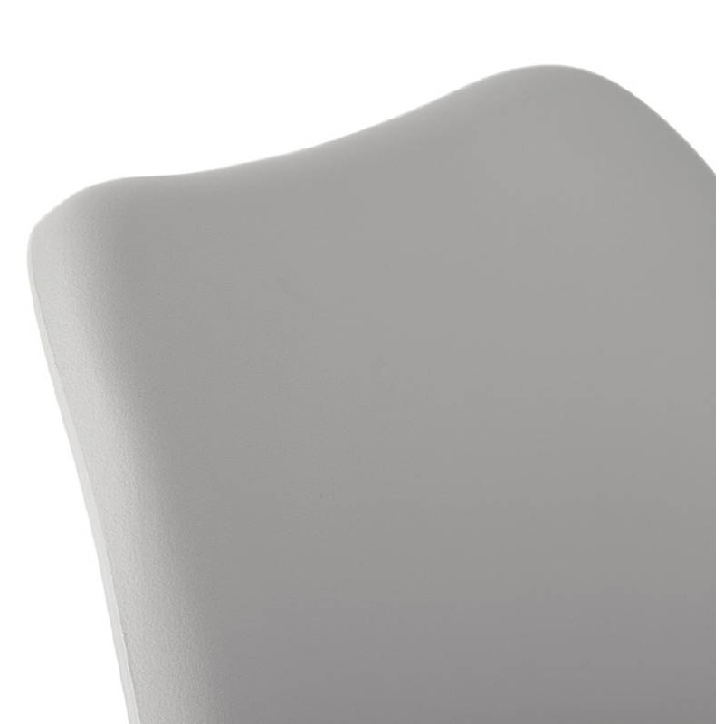 Chaise design ASHLEY pieds noirs (gris clair) - image 39240
