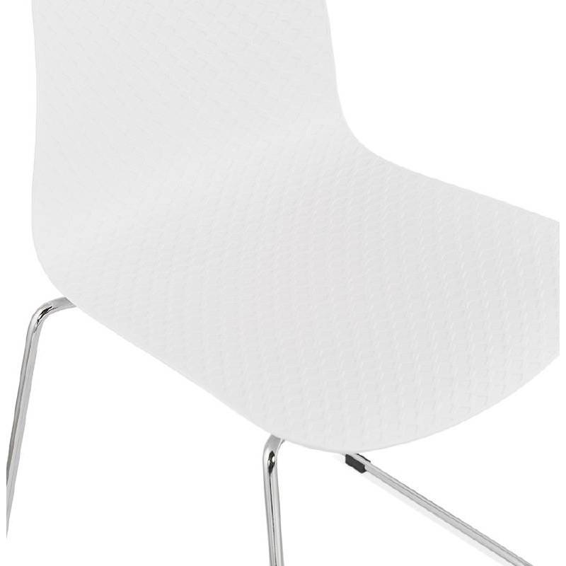 Piede di ALIX sedia moderno cromato in metallo (bianco) - image 39253
