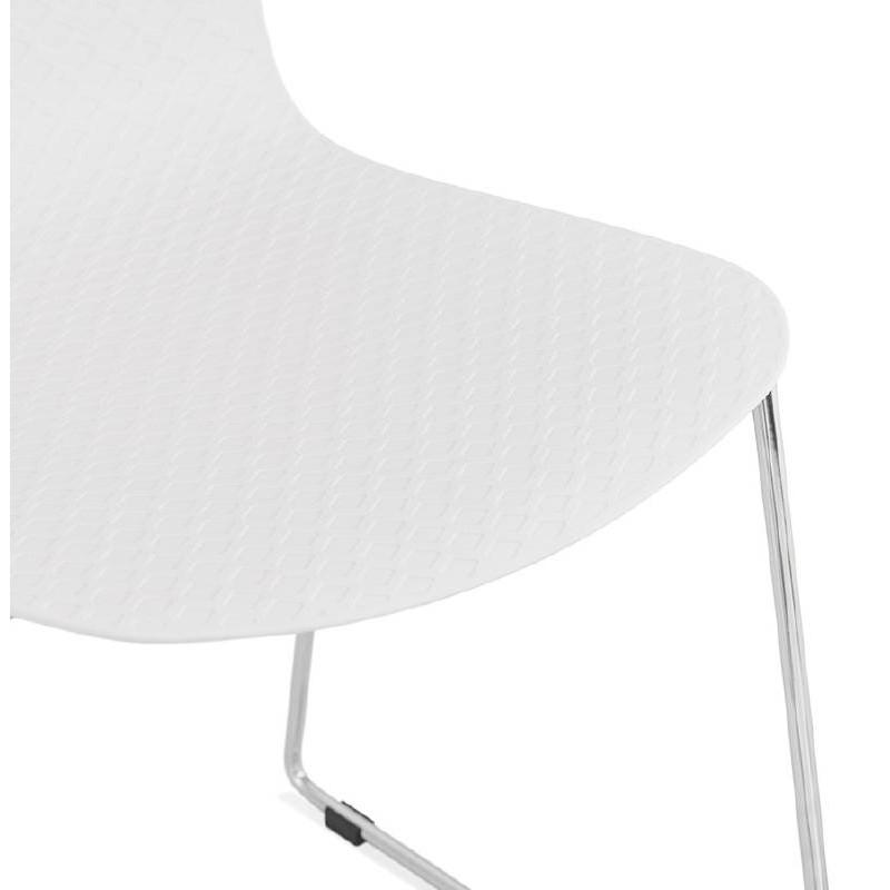 Piede di ALIX sedia moderno cromato in metallo (bianco) - image 39254