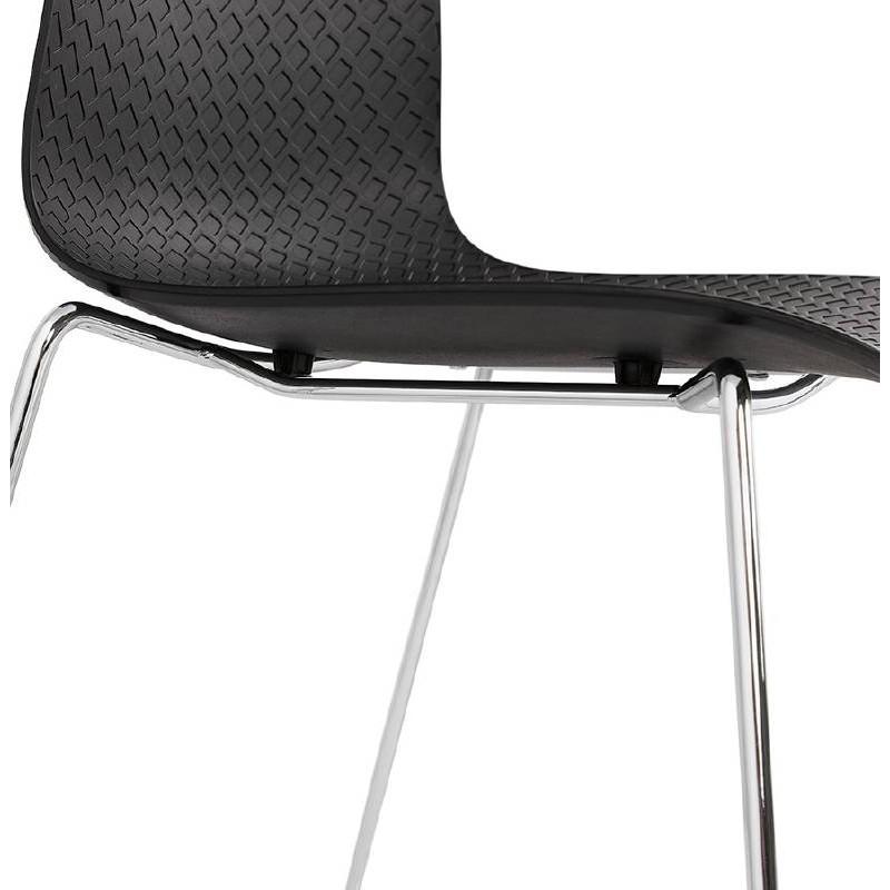 Moderner Stuhl ALIX Fuß verchromt Metall (schwarz) - image 39266