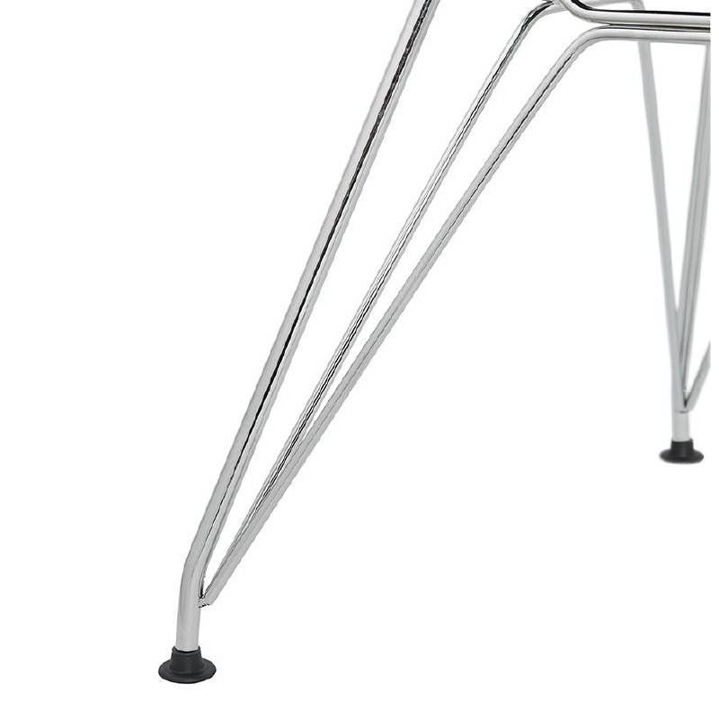 Design and industrial chair from polypropylene feet chrome metal (light gray) - image 39341