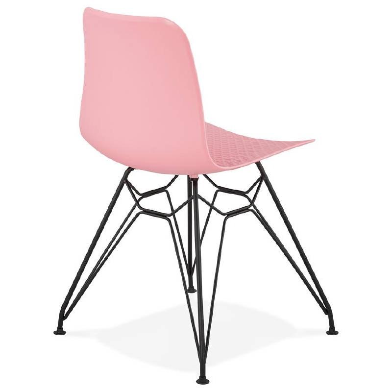 ... Silla de diseño y industrial metal de negro de pies de VENUS (rosa) ... dc388d903fd5
