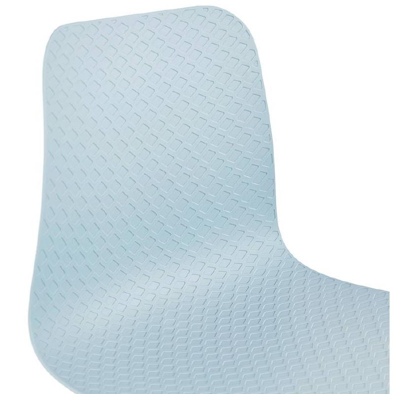 Design and industrial chair VENUS feet (sky blue) black metal - image 39361