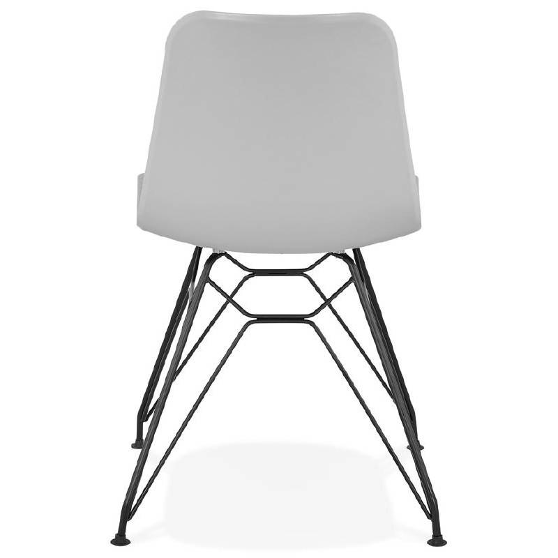 Sedia di design e industriale VENUS piedi metallo nero (grigio chiaro) - image 39373