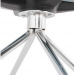 Bürostuhl auf Rädern JANICE Polypropylen Füße Chrom Metall (blauer Himmel)