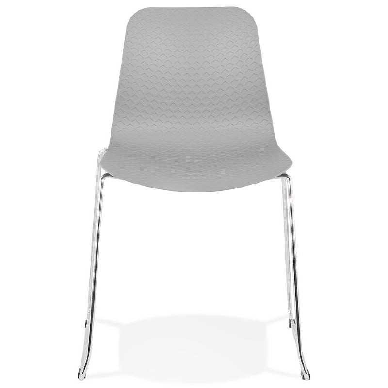 Modern Chair ALIX foot chromed metal (light gray) - image 39444