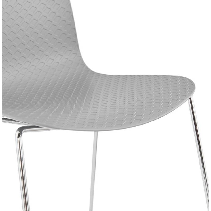 Modern Chair ALIX foot chromed metal (light gray) - image 39449