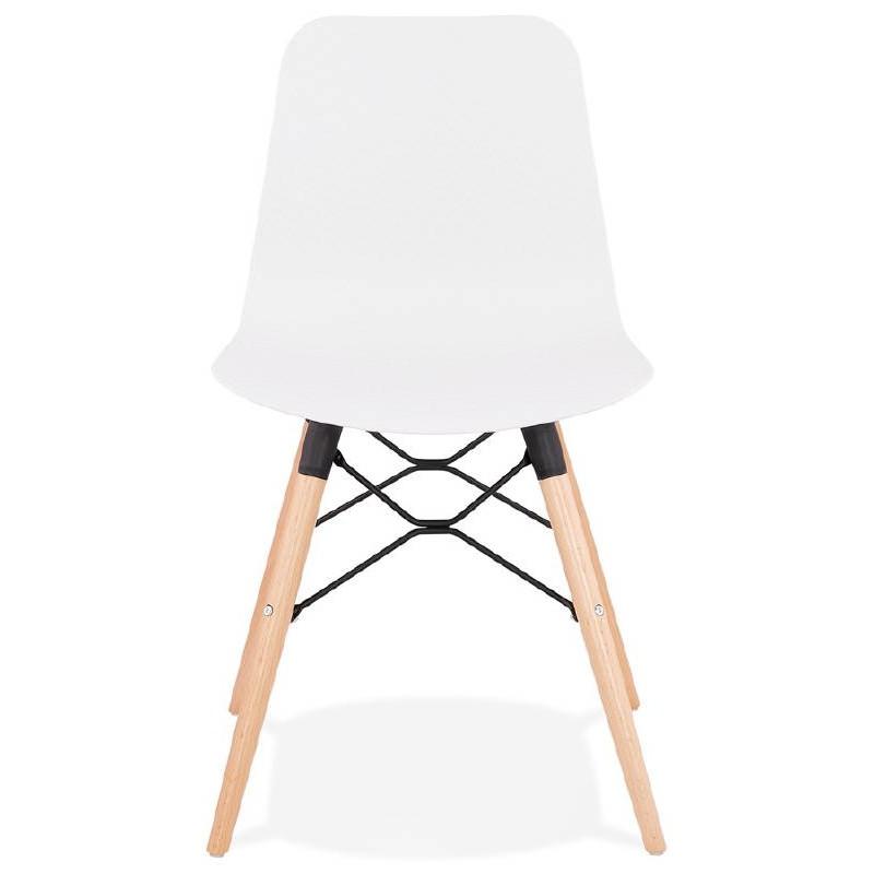 Chaise design scandinave CANDICE (blanc) - image 39455