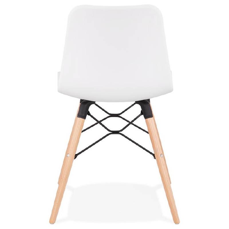 Chaise design scandinave CANDICE (blanc) - image 39458