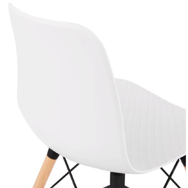 Chaise design scandinave CANDICE (blanc) - image 39460