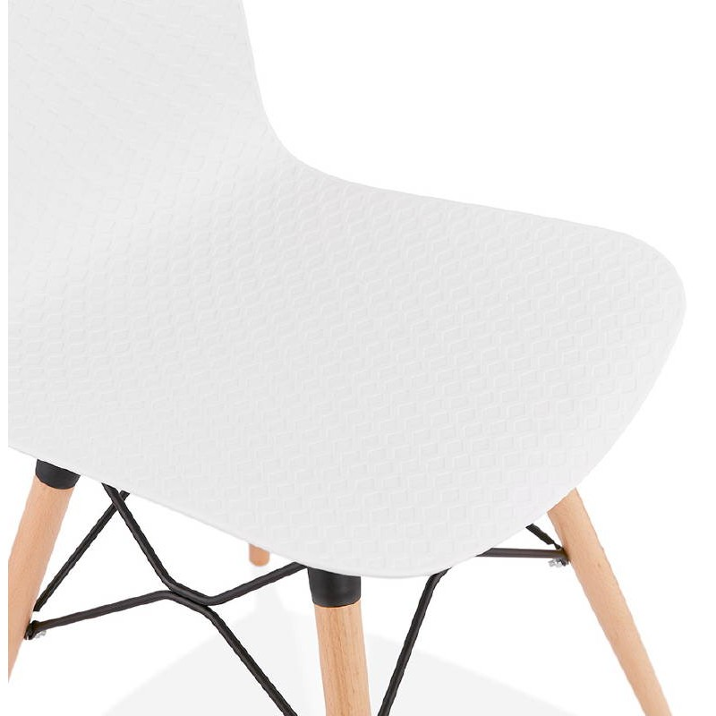 Chaise design scandinave CANDICE (blanc) - image 39461