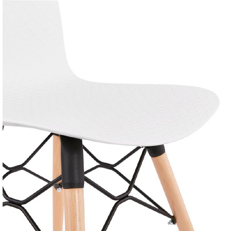 Chaise design scandinave CANDICE (blanc) - image 39462