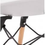 Chaise design scandinave CANDICE (blanc)
