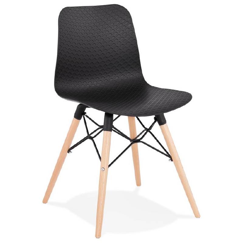 Skandinavisches Design Stuhl CANDICE (schwarz)