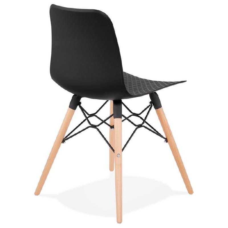 Skandinavisches Design Stuhl CANDICE (schwarz) - image 39472