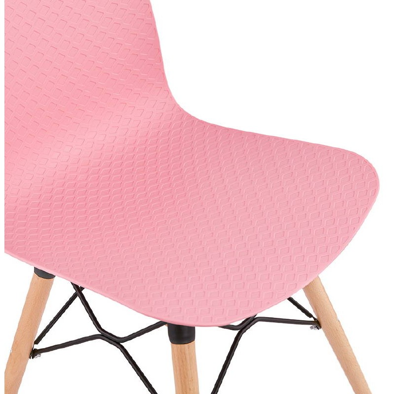 Chaise design scandinave CANDICE (rose) - image 39491