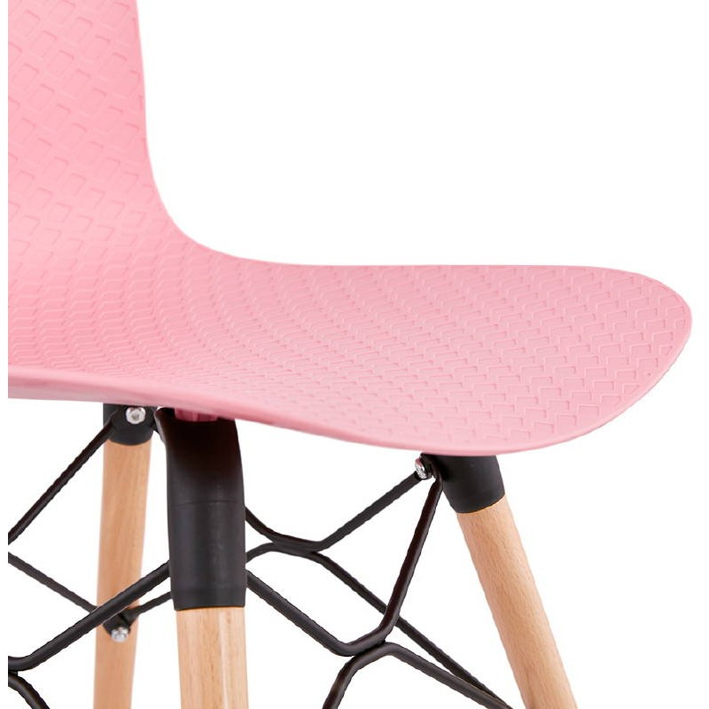 Chaise design scandinave CANDICE (rose) - image 39493