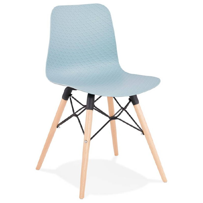 Chaise design scandinave CANDICE (bleu ciel)