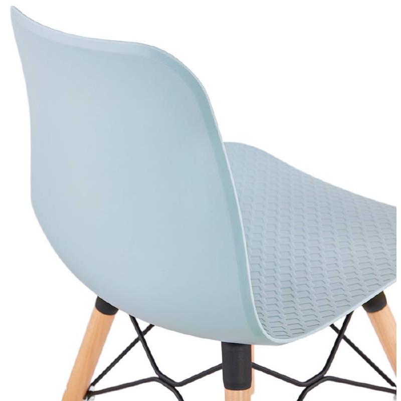 Chaise design scandinave CANDICE (bleu ciel) - image 39505