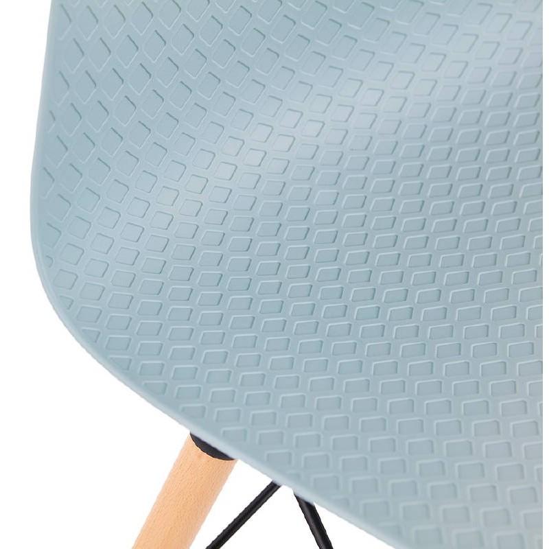 Chaise design scandinave CANDICE (bleu ciel) - image 39507
