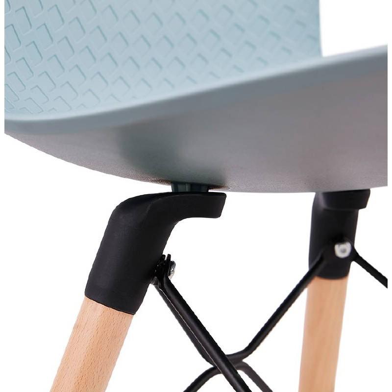 Chaise design scandinave CANDICE (bleu ciel) - image 39510