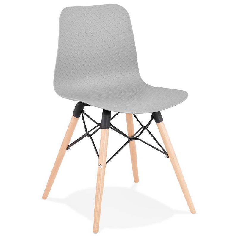 Chaise design scandinave CANDICE (gris clair) - image 39514