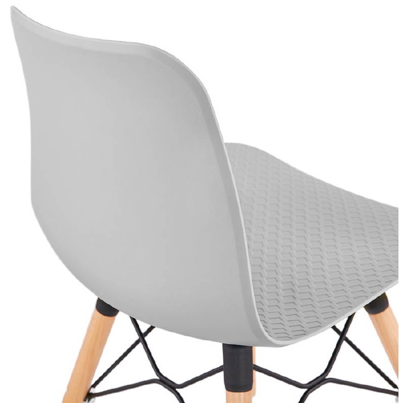 Chaise design scandinave CANDICE (gris clair) - image 39520