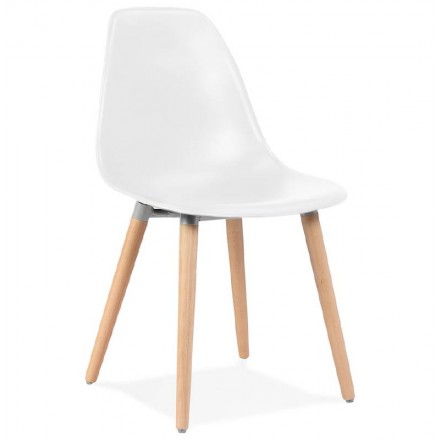 Chaise design scandinave ANGELINA (blanc)