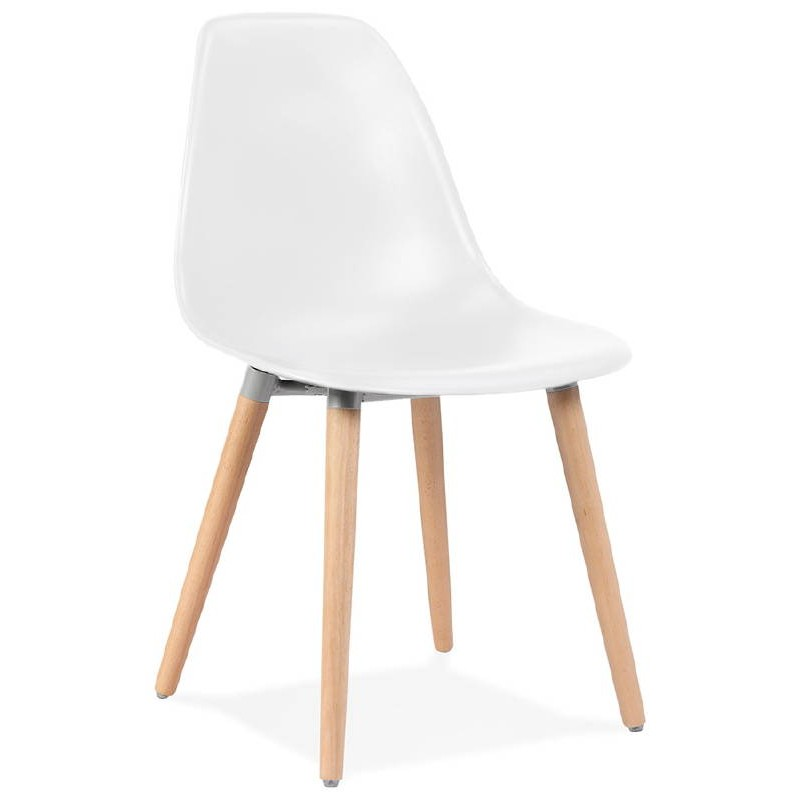 Chaise Design Scandinave ANGELINA Blanc