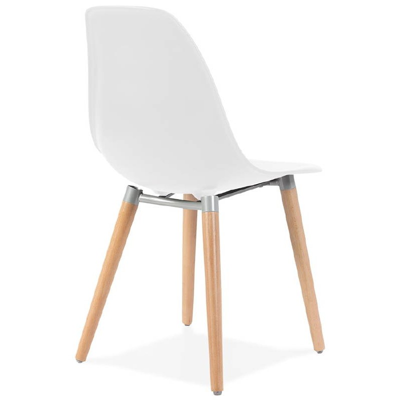 chaise design scandinave angelina blanc. Black Bedroom Furniture Sets. Home Design Ideas