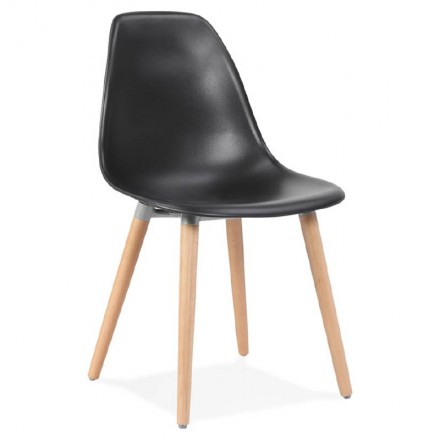 Chaise design scandinave ANGELINA (noir)