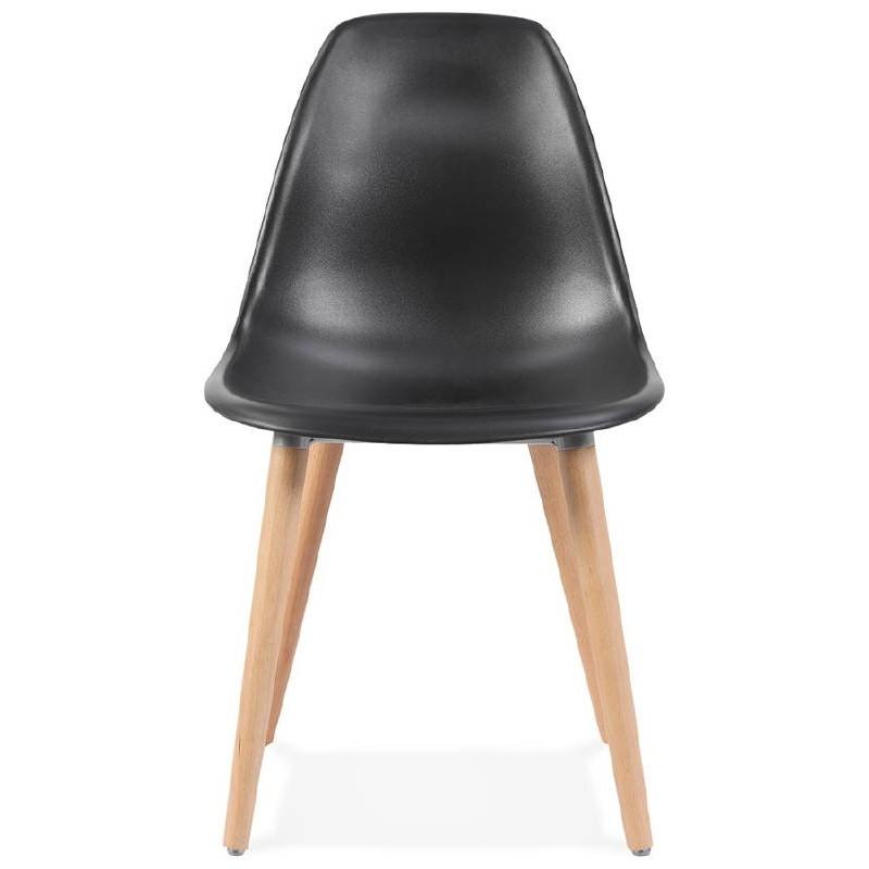 Skandinavisches Design Stuhl ANGELINA (schwarz) - image 39540