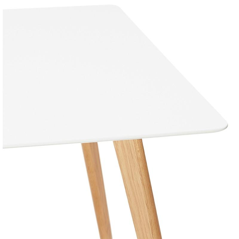Table à manger design scandinave CLEMENTINE en bois (200x90x75 cm) (blanc) - image 39588