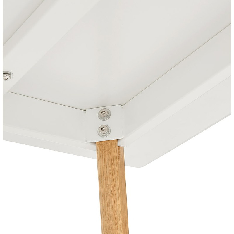 Table à manger design scandinave CLEMENTINE en bois (200x90x75 cm) (blanc) - image 39590