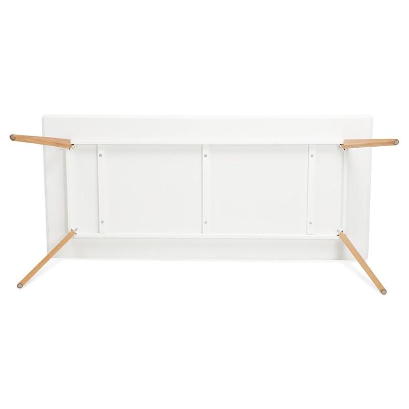 Table à manger design scandinave CLEMENTINE en bois (200x90x75 cm) (blanc) - image 39593