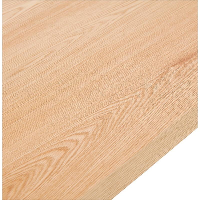 Table à manger design ou table de réunion AXELLE en bois et métal (180x90x77 cm) (naturel) - image 39658