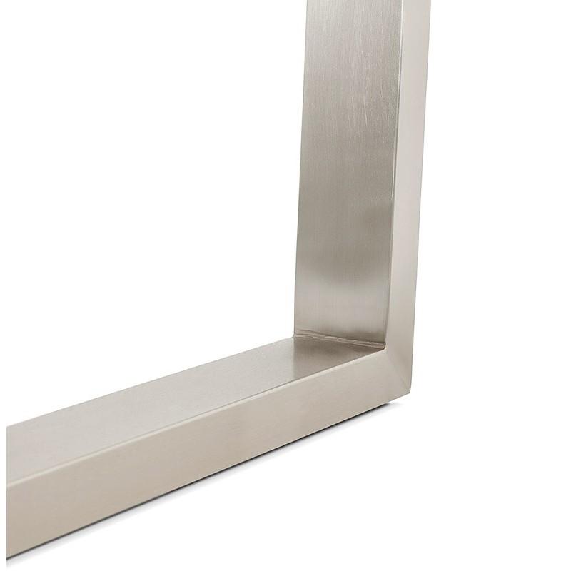 Table à manger design ou table de réunion AXELLE en bois et métal (180x90x77 cm) (naturel) - image 39662