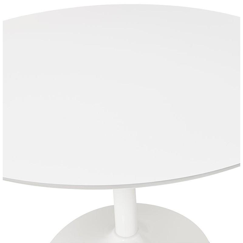 Tisch rund essen skandinavisches Design oder Büro MAUD in MDF und lackiertem Metall (Ø 90 cm) (weiß) - image 39674