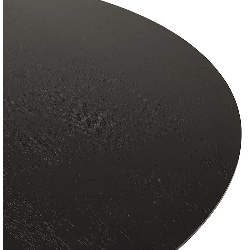 Table round dining design or Office MAUD in MDF and painted metal (Ø 90 cm) (black) - image 39700