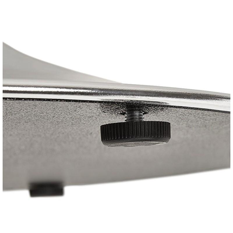Runder Esstisch Design oder Büro MAUD in MDF und verchromtem Metall (Ø 90 cm) (Walnuss, Chrom) - image 39724