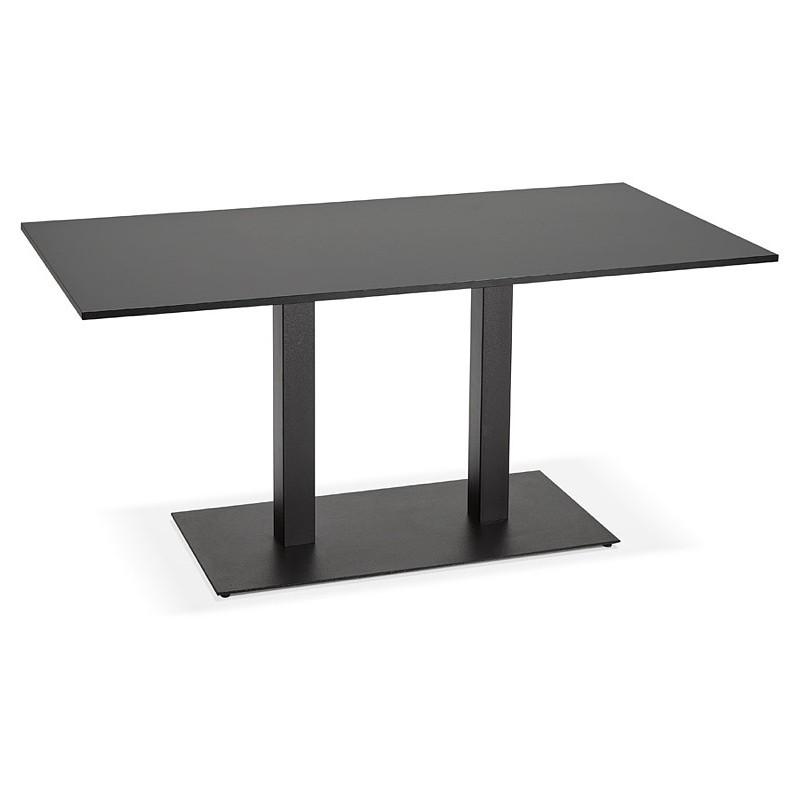 Table à manger design ou table de réunion LUCILE (160x80x75 cm) (noir) - image 39794