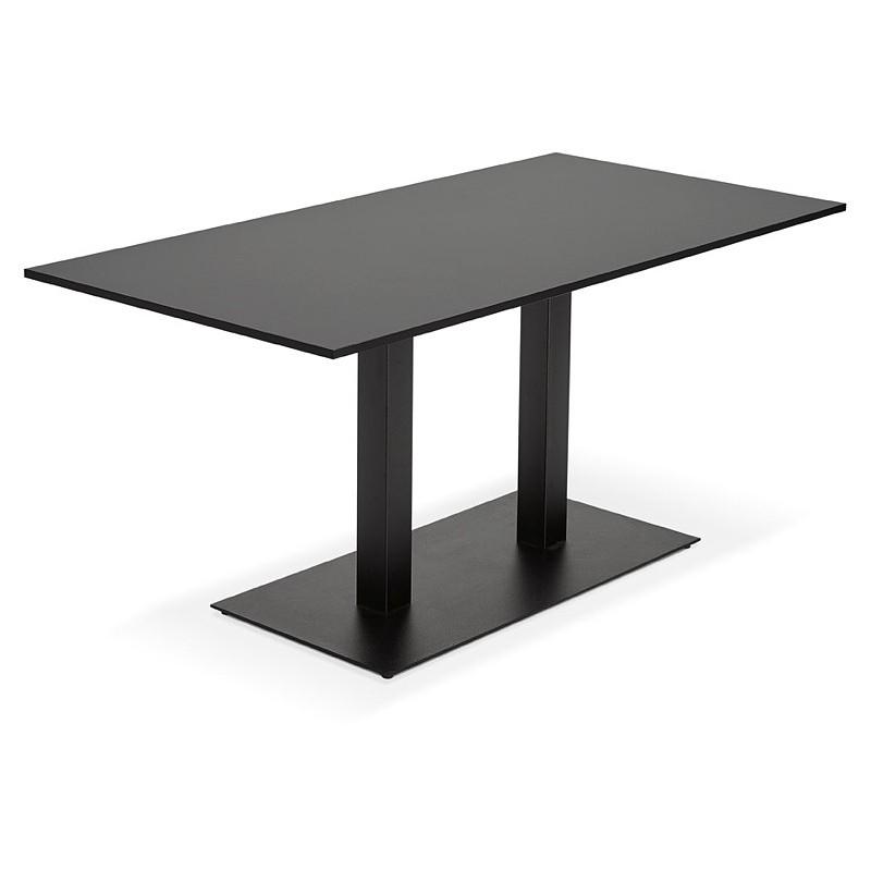 Table à manger design ou table de réunion LUCILE (160x80x75 cm) (noir) - image 39797