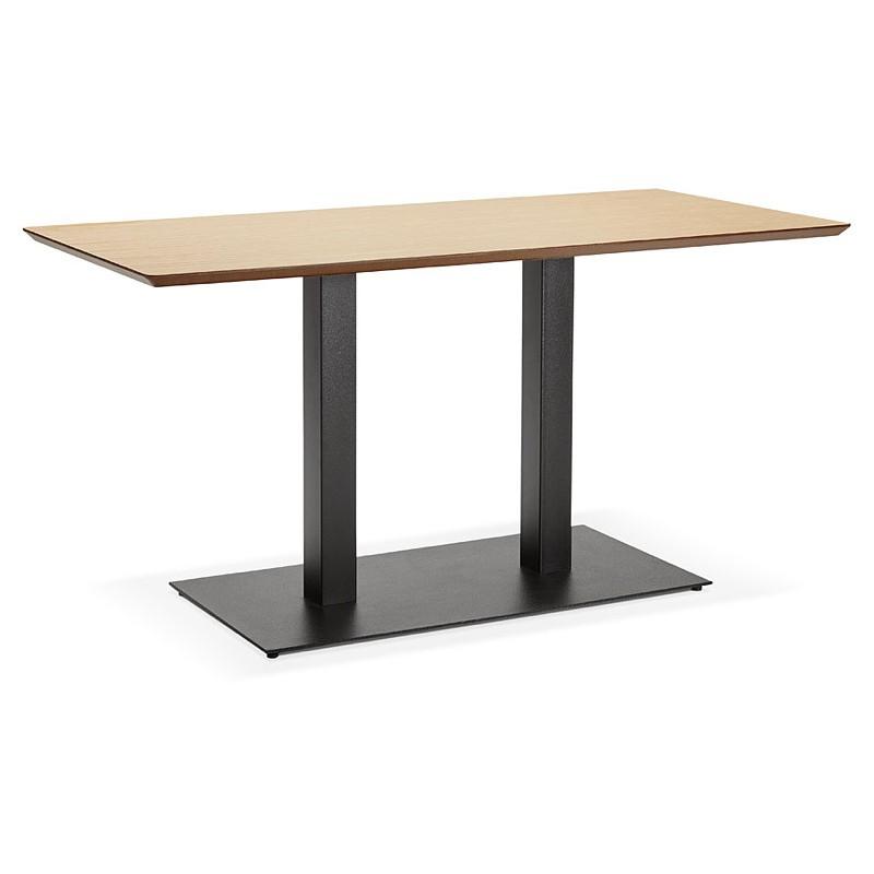 Diseño o reunión mesa de KENZA (150 x 70 x 75 cm) (acabado roble natural)