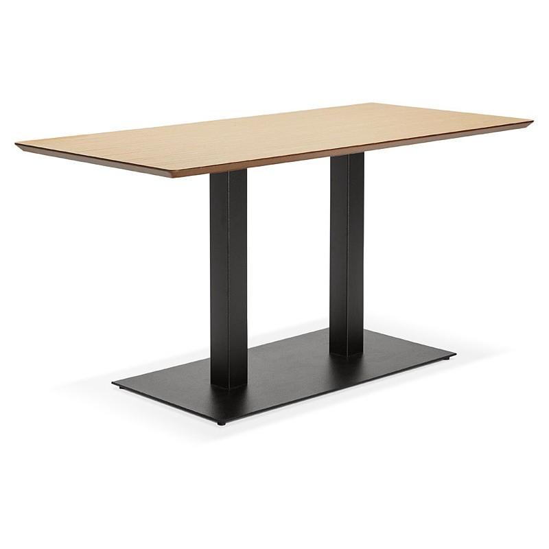 Table à manger design ou table de réunion KENZA (150x70x75 cm) (finition chêne naturel) - image 39830