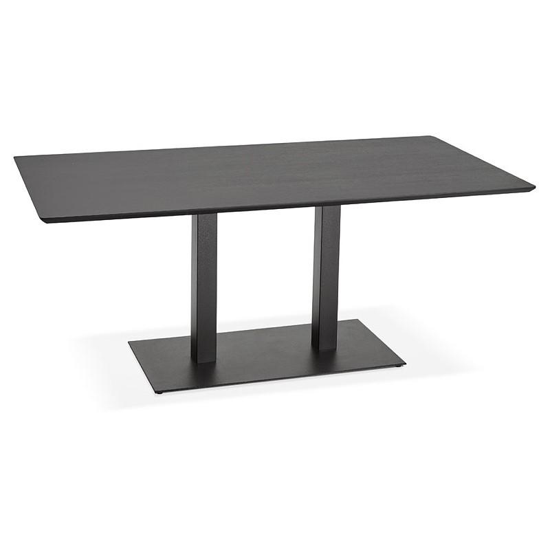 Table à manger design ou table de réunion ANDREA (180x90x75 cm) (noir) - image 39849