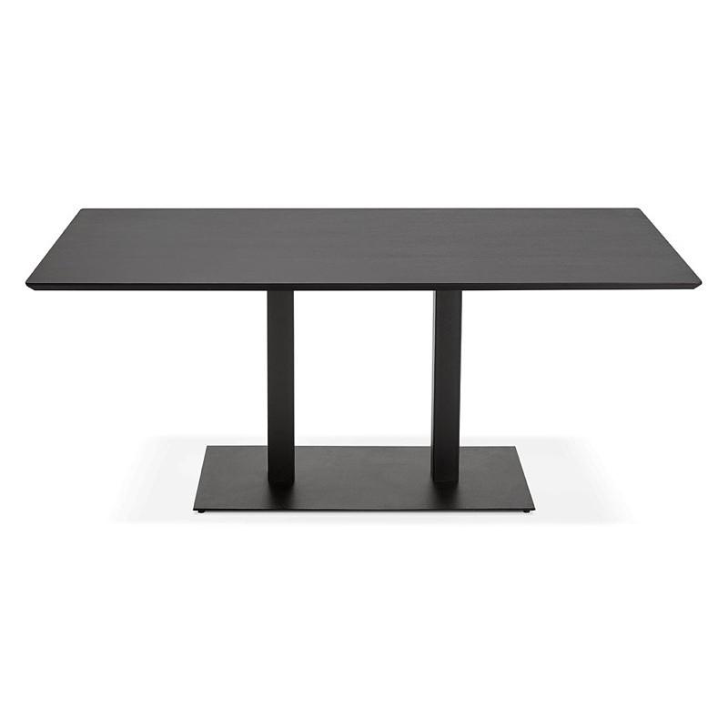 Table à manger design ou table de réunion ANDREA (180x90x75 cm) (noir) - image 39850
